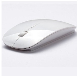 free shipping newest fashionable - wireless mouse and mice 2.4G receiver, super slim mouse/ Bright White
