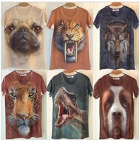 Free shipping New arrival tshirt for men 2013 mens o-neck 3d cotton t shirt ,3D printed t-shirts for men