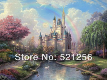 BLATK41 Free shipping HD Thomas Kinkade canvas prints modern wall art home decoration oil painting