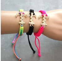 Free Shipping New Arrival  Items 2014 Fashion Neon New Fluorescent Handmade Anchor Bracelet Promotion (B2 220)