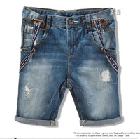 Wholesale 5pcs / Lot Chldren / Kids Demin Jeans Shorts Overalls Pant trouser Boys Jeans freeshipping
