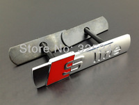 Excellent NEW SLine S Line Plated Metal Front Grille car Emblem Badge For Audi S1 S3 S4 S6 S8 RS4 A6 A4 Q5 Q7 TT RS5 car styling