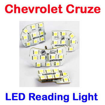 Chevrolet Cruze LED Reading Lights trunk Light  4pcs/set Super Bright auto LED interior Dome lamp Top Quality HK Post Free
