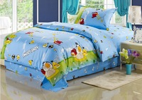2013 New 100% cotton student dormitory bed Children's home textiles princess  cartoon anime bedding sets-3pcs