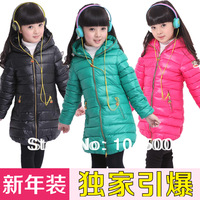 Free shipping  female winter   medium-large  casual thickening wadded  cotton-padded jacket long-sleeve