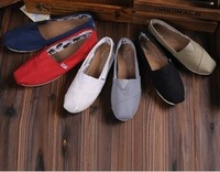Spring, summer, autumn, new canvas shoes men and women lovers shoes flat single bottom shoes slip-on shoes