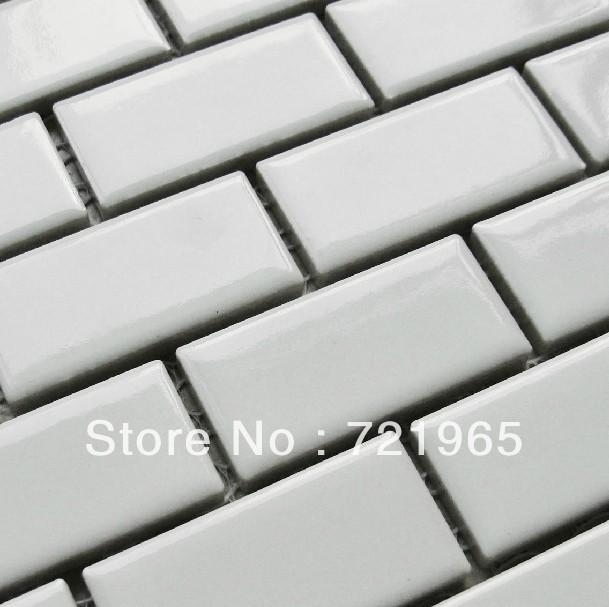 Metrotegels Keuken Kopen : White Ceramic Subway Tile Kitchen Backsplash