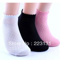 8pairs/lot =16pcs Girls Summer girl socks, cotton socks thin paragraph hollow-out fishnet
