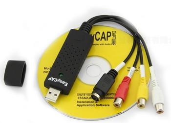 Free shipping USB 2.0 Easycap DC60 TV DVD Video VHS Adapter Capture Card Audio AV Capture