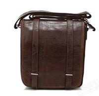 Men messenger bags Business Genuine Crazy horse Leather 100% Real Vintage Cow Leather Unisex Messenger Shoulder bags 2015 new
