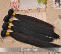 Top quality brazilian virgin hair straight hair weaves 4pcs lot 100% human hair extensions off black#1b dhl free shipping