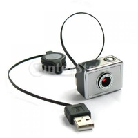 Free Shipping 3.0 Mega Pixels USB Driverless Webcam Camera with Retractable Cable for Laptop