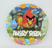 Diy 60pcs 7 inch red birds child birthday party supplies cartoon disposable paper plate cake /fruit plate/cake plate hot sale ##