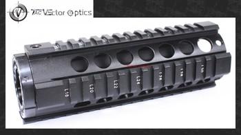 Vector Optics T-Series Free Float 7 Inch Carbine Handguard Quad Picatinny Rail Mount fit  .223 5.56 Rifles for Tactical