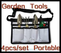 Free Shipping 4 Piece Portable Gardon Tool Set(Shovel + Rake + Shear + Portable Bag)