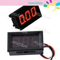 5pcs/Lot New Red LED Panel Meter Mini Digital Voltmeter DC 0-30V TK0602