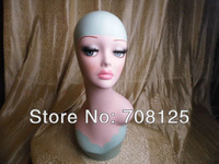 Fiberglass vintage Female hand-painted mannequin head for jewelry & hat