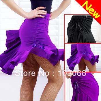 2013 Hot Fashion Latin Tango Chacha Ballroom Dance Dress Skirt Purple / Black