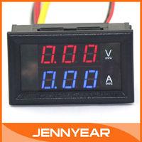DC YB27-VA Volt Amp Meter 2in1 Digital Amperemeter LED Tester Blue Red 0-100V/10A Car Battery Generator Monitor #100014