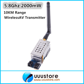 Boscam  FPV 5.8Ghz 2000mW 2W 8 Channel  Wireless Audio Video Transmitter AV Sender for FPV system 10KM Range