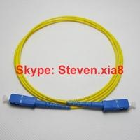 Free shipping, Optical Fiber Patch Cord SC/PC-SC/PC SM Simplex  LSZH 3.0mm 3M  Fiber Optic Jumper