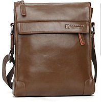 Free shipping 2013   new style   100%  hight quailyt genuine leater   fashion  messenger   male bag bussiness bag