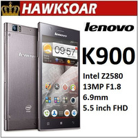 Lenovo K900 Dual-core Intel Atom Z2580 2048Mhz 2G RAM+16GROM Android 4.2  5.5'' IPS  13MP Russian Spanish googleplay