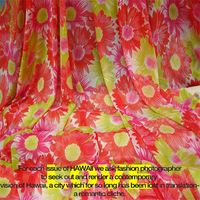 Hot fashion fabrics Flower elastic soft gauze spandex  basic