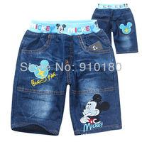 2013 new 6pcs/lot baby summer boys cartoon mickey mouse denim shorts kids children fashion jeans