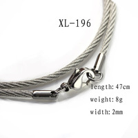 "Free Shipping 1X 2mm Round Link Stainless Steel Silver Choker Necklace Chain 18.5"" Unisex"