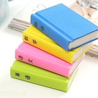 textbook book shape standard pencil eraser  r121026-4 stationery new, supplies, funny , rubber, toy, gift for kids students