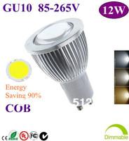 20X Home Garden  GU10 12W COB LED lighting led bulb Led light CE RHos FCC UL  85-265V free shipping