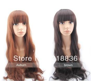 Hot Sale! Brazilian virgin Hair Extension Body wave 2pcs/lot  Free Shipping 30'' Auburn and brown