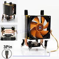 FREE SHIPPING 3PIN DC 12V CPU Heatsinks Cooler Cooling PC computer Fan For Intel LGA 775, bumblebee fan 1PC  FS033