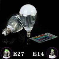 RGB E14/E27 10W LED Bulb Lamp with Remote Control AC85-265V--------Limited Time Offer