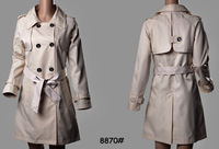 Free Shipping 2013 Women Fashion Brand X-long Double Breated Spring/Autumn Elegant Trench Coat/Designer Long Outerwear #8870
