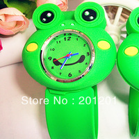 New promotional watch Cartoon frog ring pops kids gift toy watch 7214 free shipping