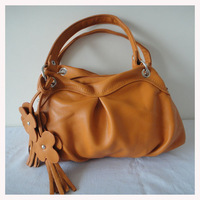 A0079(orange),wholesale new style lady handbag,messenger bag,33 x23cm,PU+ornament,4 different colors,two function,Free shipping!
