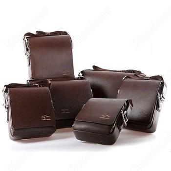 Hot Sale Discount Shoulder Messenger Bag Men's Cross Body Briefcase PU Leahter Male Handbag Kangaroo Business 075N