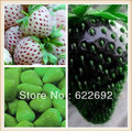 3 Kinds Strawberries Seeds, 100 Black, 100 White, 100 Green Strawberry. Total 300+ Seeds, Germination 95% + Fresh,Non-Gmo Fruit(China (Mainland))