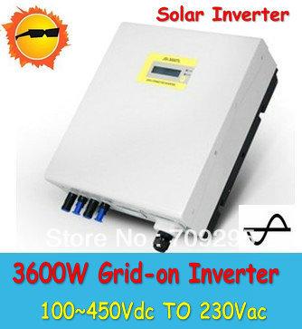 Grid Tie Inverter 3600W (DC100~450V) On Grid Inverters, AC230Pure Sine Wave Solar Inverter(China (Mainland))