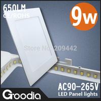 Wholesales  9W square led panel thin brightness lights,AC90~265V Cool/warm white 60pcs 2835SMD led ceiling&down kitchen lights