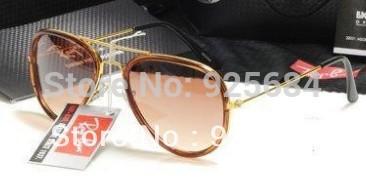 sunglasses hut !!! brown glass Alloy frame,Good materials to build good sunglasses, retro sunglasses(China (Mainland))