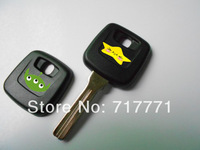 New Volvo transponder chip no button car key blank with logo fob case cover