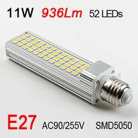 Free shipping Factory directsale high quality 90-255V 11W 13W E27 1152LM SMD 5050 LED Corn Light LED Bulb Lamp Warm Pure White