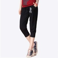 Free shipping! Plus size clothing, summer trousers; women's casual sports pants; female capris