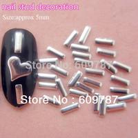 Free Shipping MD-1G 2000pcs/lot silver 5mm 3d metal nail studs nail decorations