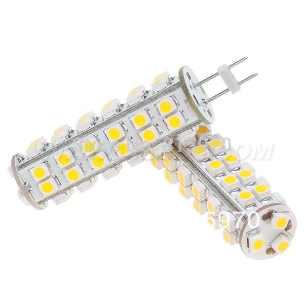 Free Shipment!!! Dimmable GY6.35 Led G6.35 Corn Bulb 51leds 3528SMD White Warm White 12VDC 3W Super Bright High Power Lighting(Hong Kong)