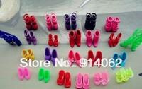 Wholesale mini  shoes 120pairs/lot free shipping kid's favorite doll accessories random shipment