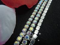 Free shipping Crystal Rhinestone Close Chain AB Trim 10 YARD ss10 bridal appliques trims for dresses
